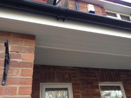 Under Porch Soffit And Black Round Gutter Farnborough