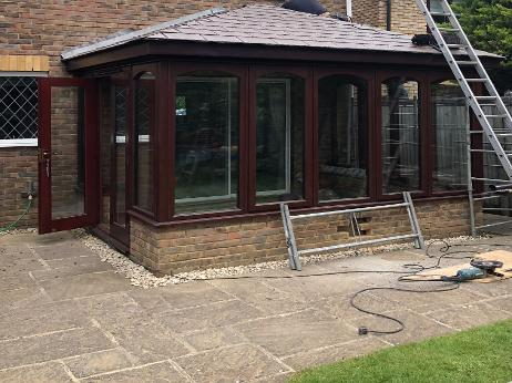 warfield, convert wickes wooden conservatory